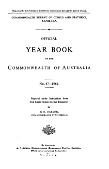 Official Year Book of the Commonwealth of Australia No  47   1961 PDF