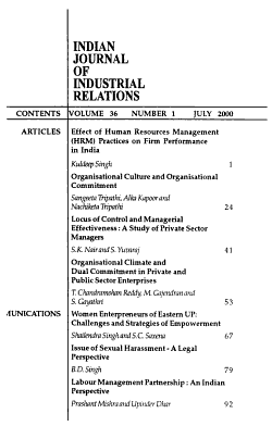 Indian Journal of Industrial Relations PDF