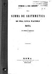 Intorno a due edizioni della Summa de arithmetica