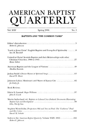 American Baptist Quarterly
