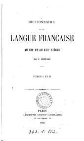 Dictionnaire de la langue française au xiie et au xiii e siècle