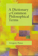 A Dictionary of Common Philosophical Terms PDF