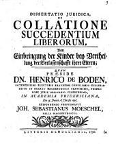 Dissertatio Juridica, De Collatione Succedentium Liberorum