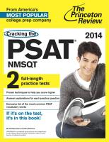 Cracking the PSAT NMSQT with 2 Practice Tests  2014 Edition PDF