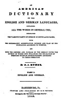 An American Dictionary of the English and German Languages PDF