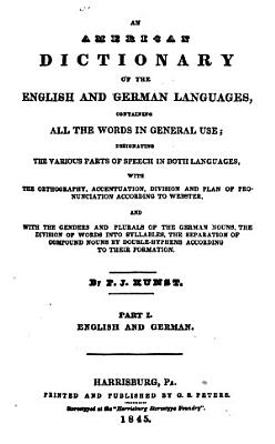 An American Dictionary of the English and German Languages