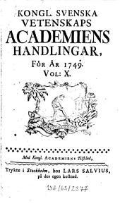 Kungliga Svenska Vetenskapsakademiens handlingar: Volume 10