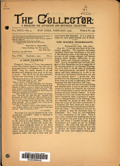 The Collector: A Monthly Magazine for Autograph and Historical Collectors, Volume 18, Issue 4