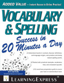 Vocabulary   Spelling Success in 20 Minutes a Day