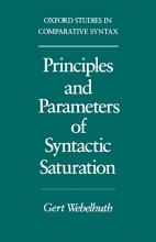 Principles and Parameters of Syntactic Saturation PDF