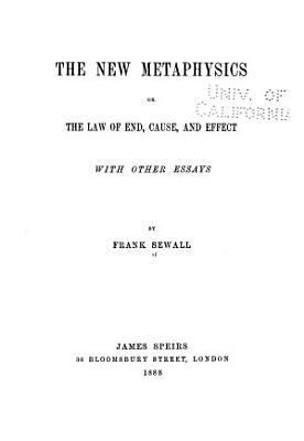 The New Metaphysics PDF