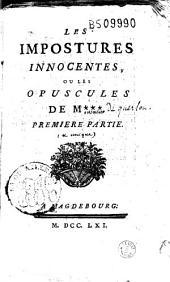 Les Impostures innocentes, ou Les Opuscules de Mxxx (Meusnier de Querlon)