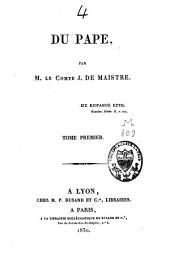 Du Pape: Volume1