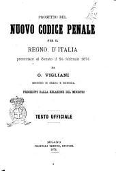 Progetto del Nuovo Codice Penale per il Regno D'Italia