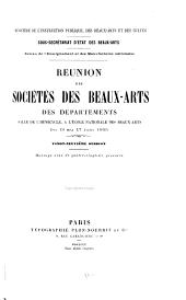 Réunion des sociétés des beaux-arts des départements ...: Volume29