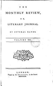 The Monthly Review ;or Literary Journal.VOLUME XXI.