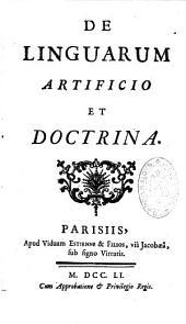 De Linguarum artificio et doctrina