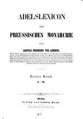 Adelslexikon der preussischen Monarchie: Band 1