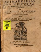 Animadversiones in historiam generalem plantarum Lugduni editam