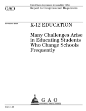 K-12 Education: Many Challenges Arise in Educating Students Who Change Schools Frequently