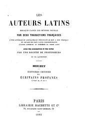 Histoires choisies des Écrivains profanes: Livres III-V.