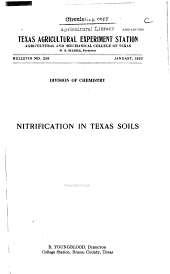Nitrification in Texas Soils