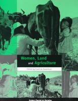 Women  Land and Agriculture PDF