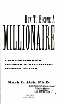 How to Become a Millionaire PDF
