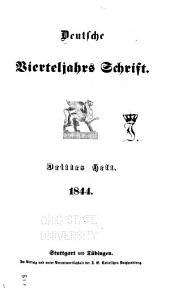 Deutsche vierteljahrs Schrift: Ausgabe 27