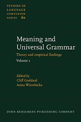 Meaning and Universal Grammar PDF