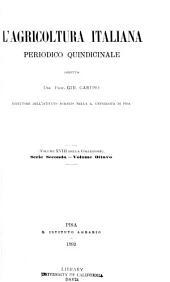 L'Agricoltura italiana: Volume 18