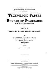 Technologic Papers of the Bureau of Standards: Volumes 101-110