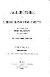 Jahrbücher für Nationalökonomie und Statistik: Band 2;Band 36