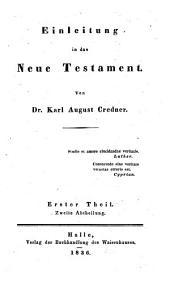 Einleitung in das Neue Testament: Band 1,Ausgabe 2