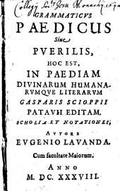 Grammaticus paedicus