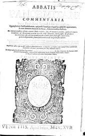 Commentaria: Super tertia parte secundi libri decretalium, Volume 5