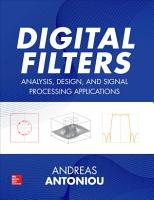 Digital Filters  Analysis  Design  and Signal Processing Applications PDF