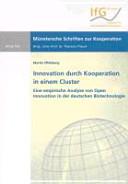 Innovation durch Kooperation in einem Cluster PDF