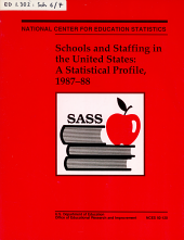 Schools and Staffing in the United States  a Statistical Profile PDF