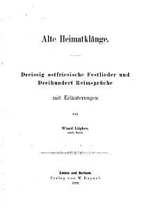 Alte Heimatkl  nge PDF