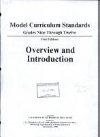 Model Curriculum Standards PDF