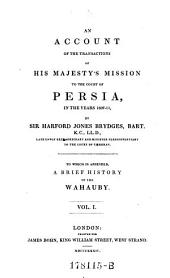 An Account of His Majesty's Mission to the Court of Persia