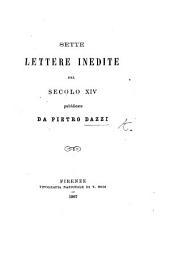 Alcune lettere familiari del secolo XIV pubblicate da P. Dazzi