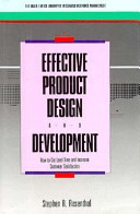 Effective Product Design And Development Book PDF