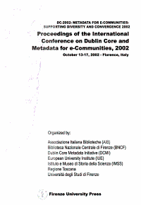 Proceedings of the International Conference on Dublin Core and Metadata for E Communities  2002 PDF