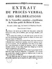 Extrait du procès-verbal des délibérations De la Commission populaire, républicaine & de salut public de Rhône & Loire. Du mardi 2 juillet 1793...