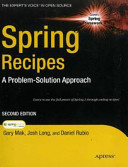 Spring Recipes  2nd Ed  A Problem Solution Approach PDF