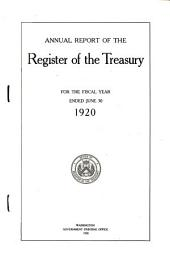 Annual Report of the Register of the Treasury to the Secretary of the Treasury for the Fiscal Year Ending ...
