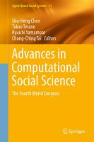Advances in Computational Social Science PDF
