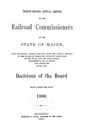 Report of the Railroad Commissioners of the State of Maine, for the Year ..: Volume 32
